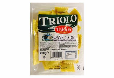 Ravioloni Ricotta e Spinaci Triolo pasta fresca Triolo